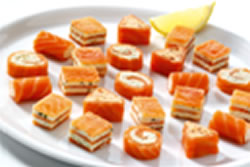 Smoked salmon canapes for Smoked oyster canape